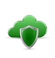 Protected cloud service vector image