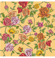 Seamless Floral Roses Background vector image