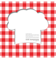 Tablecloth red vector image vector image