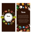 Flyer template of modern flat design farm and vector image