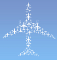 airplane formation vector image vector image