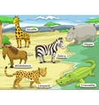 Educational game African savannah animals vector image