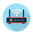 Wifi router icon flat vector image