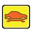 auto service icon vector image vector image