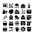 Hotel and Restaurant Icons 12 vector image