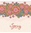Cute floral romantic card vector image