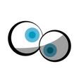 crazy cartoon eyes vector image