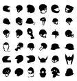 Helmet silhouette vector image
