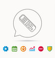 remote control icon tv channels sign vector image