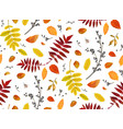 seamless patten background floral watercolor vector image