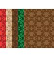set - floral seamless decorative patterns vector image