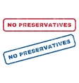 No Preservatives Rubber Stamps vector image