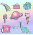 magic stickers set for design vector image