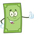 Green dollar bill cartoon vector image vector image
