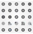 Car wheel icons set vector image