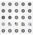 Car wheel icons set vector image