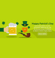 happy patricks day banner horizontal concept vector image