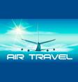 jet in the sky of jet in blue vector image