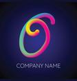 o letter logo icon blending color vector image