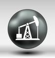 oil rig icon button logo symbol concept vector image