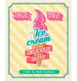 Poster with strawberry ice-cream vector image