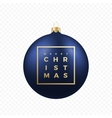 Christmas Greetings Sticker or Banner Blue Ball vector image