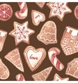 Nice ginger cookies pattern vector image