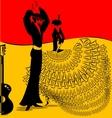 image of flamenko dance vector image