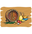 Wine barrel vector image