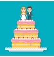 Big wedding cake vector image vector image