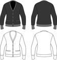 Template outline of a blank cardigan vector image