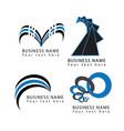 abstract round circle swirl shapes logo symbols vector image