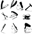 accessories for hygiene silhouettes vector image