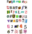 anonymous alphabet vector image