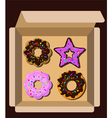 donutbox vector image