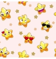 Funny childish seamless texture vector image