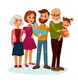 Happy family logo with father and mother vector image
