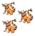 monster design character three types vector image