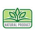 natural product organic healthy garden design vector image