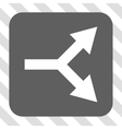 Bifurcation Arrow Right Rounded Square Button vector image