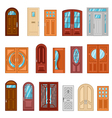 Set Of Detailed Colorful Front Doors vector image