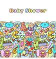 Doodle baby shower mock up vector image