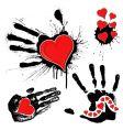 grunge Valentine's design elements vector image vector image