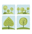 Spring Trees Set vector image vector image