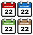 simple calendars vector image