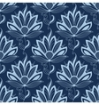 Blue persian paisley seamless floral pattern vector image vector image