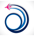 airplane move in round shape stock vector image