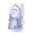 aquarelle bag vector image