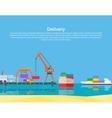 Cargo Ship Containers Shipping vector image