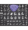 Ampersands and Catchwords hand drawn set for Logo vector image